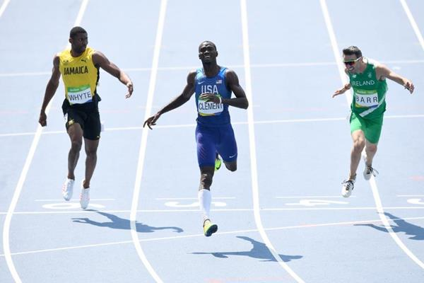 Kerron Clement wins the 400m hurdles at the Rio 2016 Olympic Games (Getty Images)