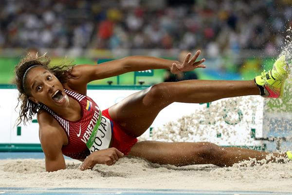 Yulimar Rojas in the triple jump at the Rio 2016 Olympic Games (Getty Images)