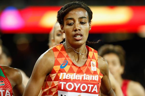 Dutch distance runner Sifan Hassan in action at the IAAF World Championships (Getty Images)