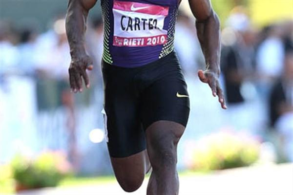 Nesta Carter running 9.78 in Rieti (Giancarlo Colombo)