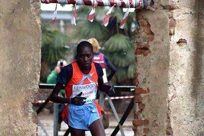 Pauline Korikwang wins at the 2008 Cinque Mulini (Rosiana Garoglio)