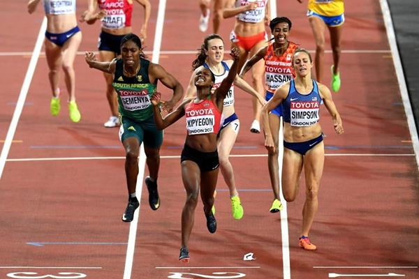Faith Kipyegon prevails in the 1500m at the IAAF World Championships London 2017 (Getty Images)