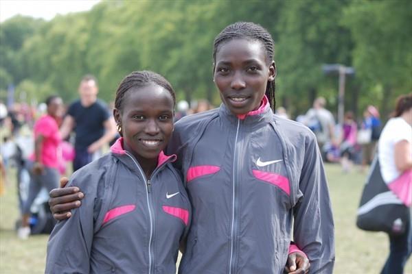 Vivian Cheruiyot and Linet Masai (Ricky Simms)