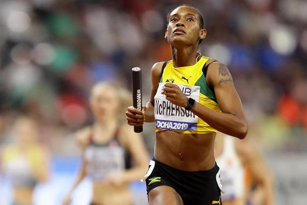 Stephenie-Ann McPherson at the IAAF World Athletics Championships Doha 2019 (Getty Images)