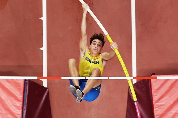 Silver medallist Armand Duplantis at the IAAF World Athletics Championships Doha 2019 (Getty Images)