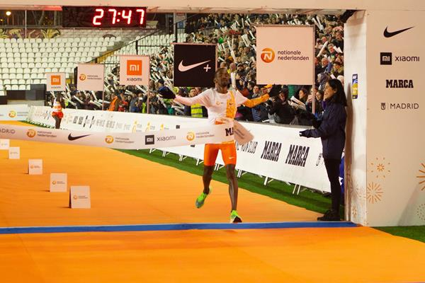 Bashir Abdi wins the San Silvestre Vallecana (Organisers)