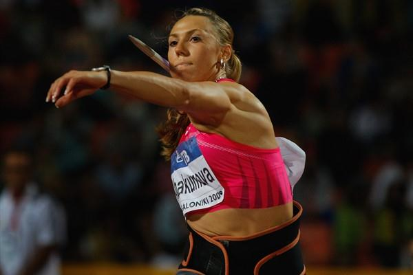 World leader Maria Abakumova wins the women's javelin in Thessaloniki (Getty Images)