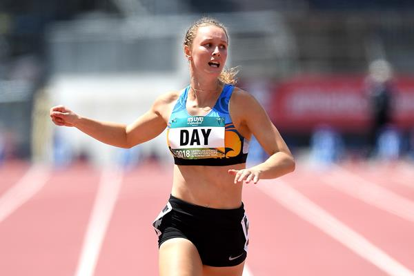 Riley Day wins the 200m at the Australian Championships (Getty Images)