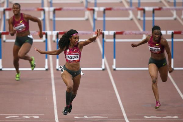 Brianna Rollins wins the 100m hurdles in Beijing (Getty Images)