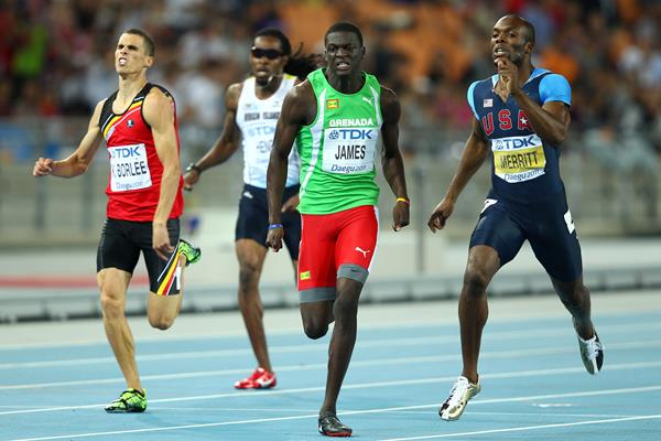 Kirani James taking the world 400m title in 2011 (Getty Images)