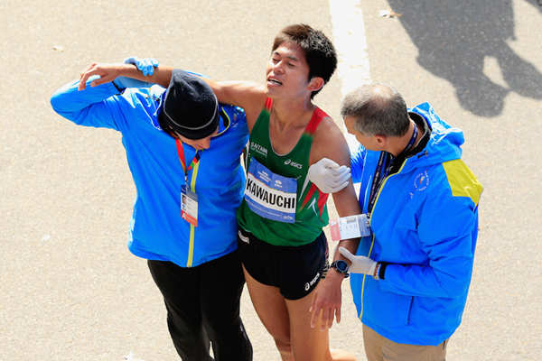 Yuki Kawauchi after the New York City Marathon (Getty Images)