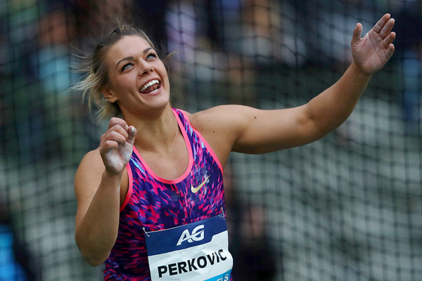 Discus winner Sandra Perkovic at the IAAF Diamond League final in Brussels (Getty Images)