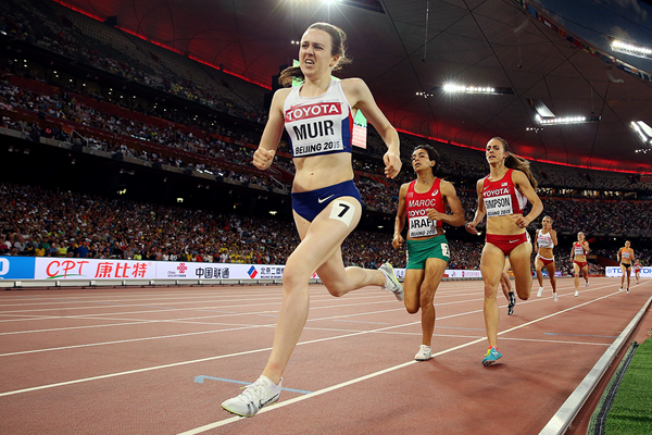 Laura Muir in the 1500m at the IAAF World Championships Beijing 2015 (Getty Images)