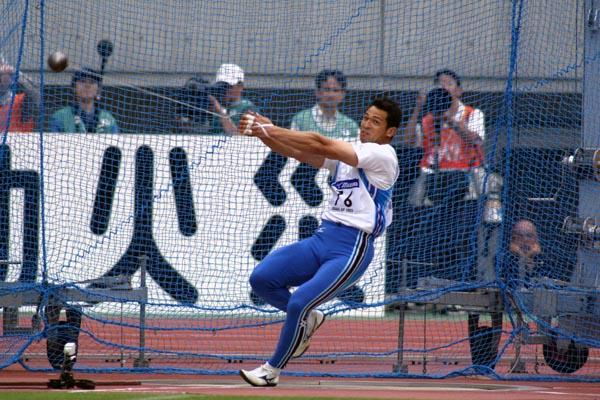 Koji Murofushi competing in Osaka (Courtesy of Osaka GP)