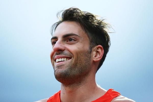 Australian long jumper Mitchell Watt at the Hunter Track Classic (Getty Images)