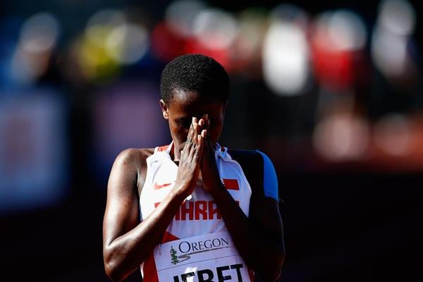 3000m steeplechase winner Ruth Jebet at the IAAF World Junior Championships, Oregon 2014 (Getty Images)
