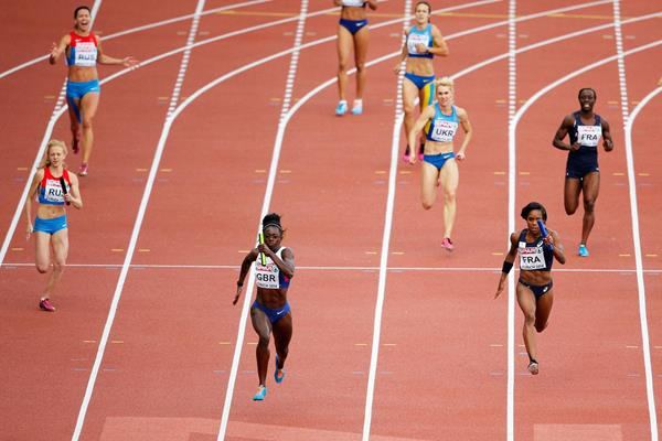 Desiree Henry anchors Britain to gold and a national record in the 4x100m at the European Championships (Getty Images)