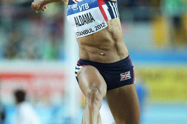 Yamile Aldama of Great Britain competes in the Women's Triple Jump Final during day two - WIC Istanbul (Getty Images)
