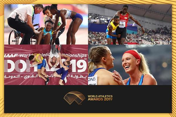 Moments of fair play from the IAAF World Athletics Championships Doha 2019 (Getty Images)