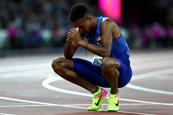 Donavan Brazier after his semifinal at the 2017 World Championships (Getty Images)