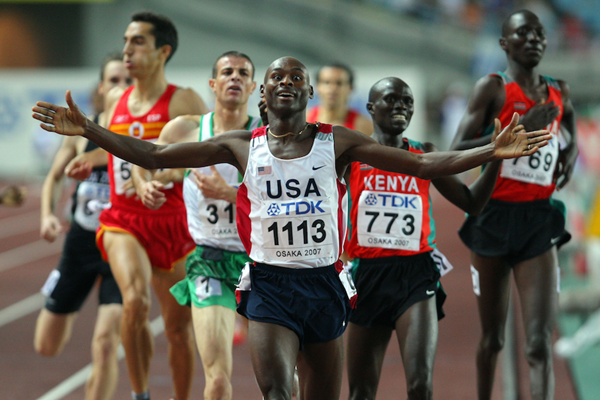 Bernard Lagat wins his second gold at the 2007 World Championships ()