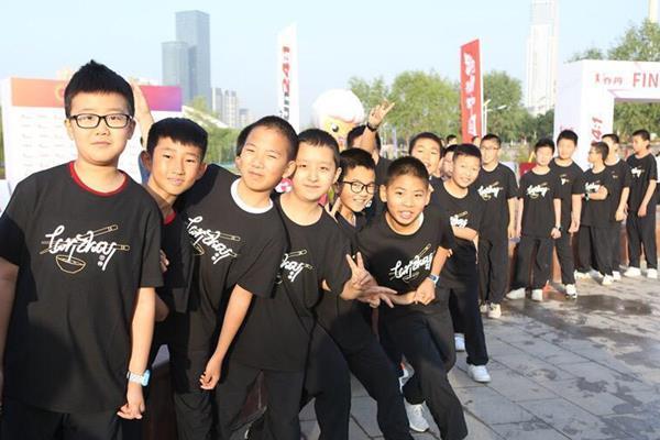 School children in Lanzhou (IAAF)