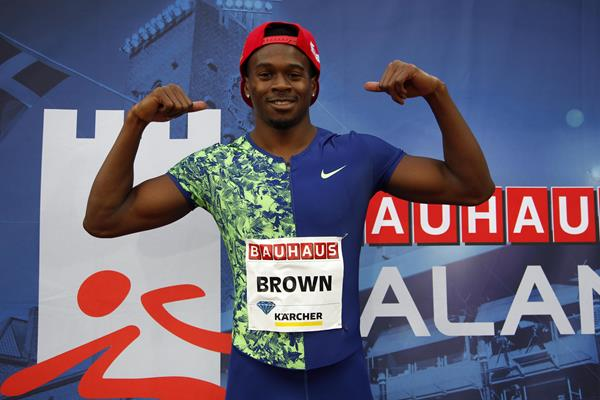 Aaron Brown's 200m momentum continued in Stockholm (Hasse Sjogren)