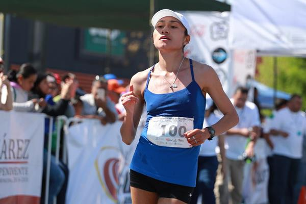 Maria Guadalupe Gonzalez at the IAAF Race Walking Challenge meeting in Ciudad Juarez (Institute Chihuahuense del Deporte y Cultura Fisica)