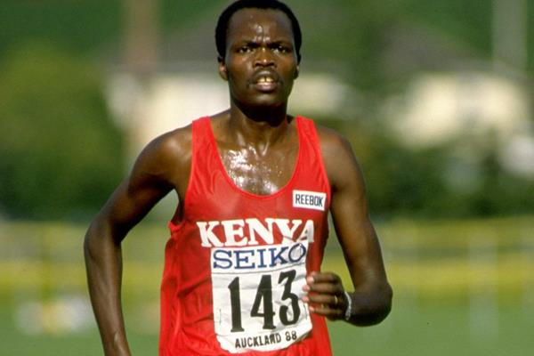 Paul Kipkoech at the 1988 World Cross Country Championships (Getty Images)