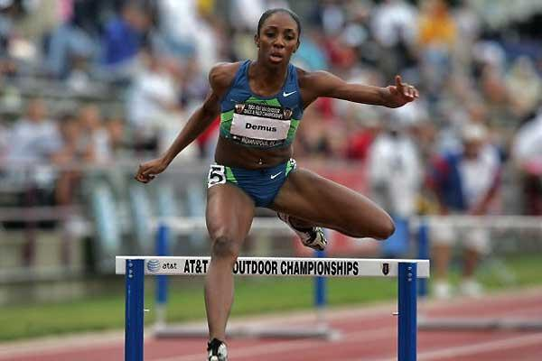 Lashinda Demus hurdles to 53.07 - USATF Nationals (Getty Images)