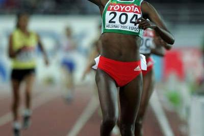 Tirunesh Dibaba of Ethiopia wins the women's 10,000m final (Getty Images)