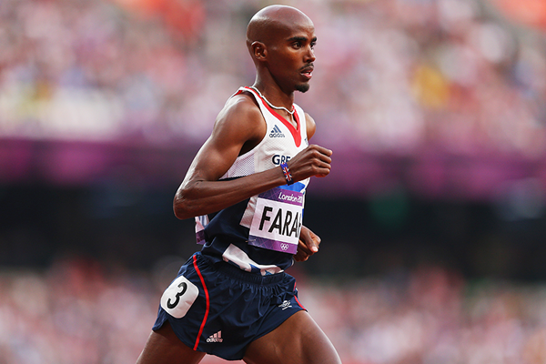 Mo Farah in the 5000m at the London 2012 Olympic Games (Getty Images)