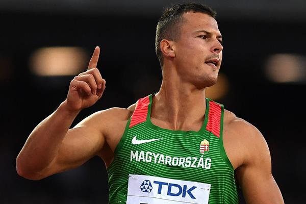 Balazs Baji in the 110m hurdles at the IAAF World Championships London 2017 (Getty Images)