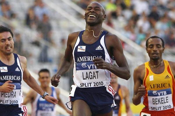 Bernard Lagat on his way to victory at the IAAF Continental Cup (Getty Images)