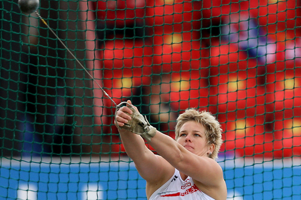 Anita Wlodarczyk in action at the European Team Championships (Getty Images)