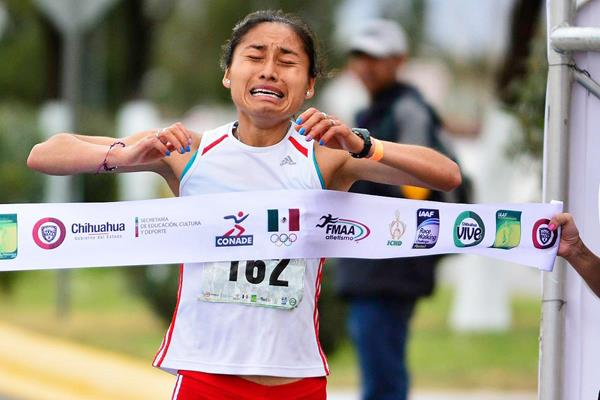 Maria Guadalupe Gonzalez wins the women's 20km race walk (Organisers)