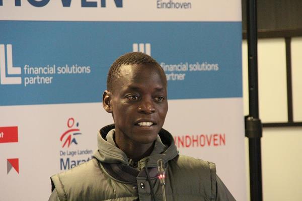 Leonard Komon ahead of the 2014 Marathon Eindhoven (organisers / Ad Hoeks)