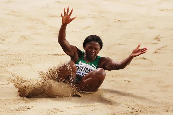Ese Brume at the 2019 World Championships in Doha (Getty Images)
