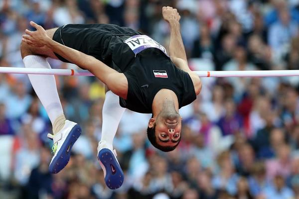 Majd Eddin Ghazal in the high jump at the London 2012 Olympic Games (Getty Images)