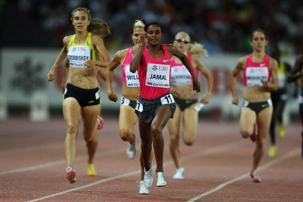 World and Olympic Champion Maryam Jamal wins the 1500m at the IAAF Golden League in Zurich (Getty Images)
