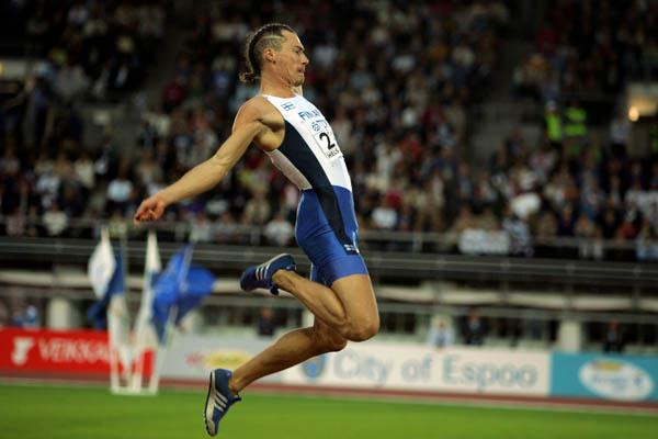Tommi Evila of Finland takes bronze in the Long Jump (Getty Images)