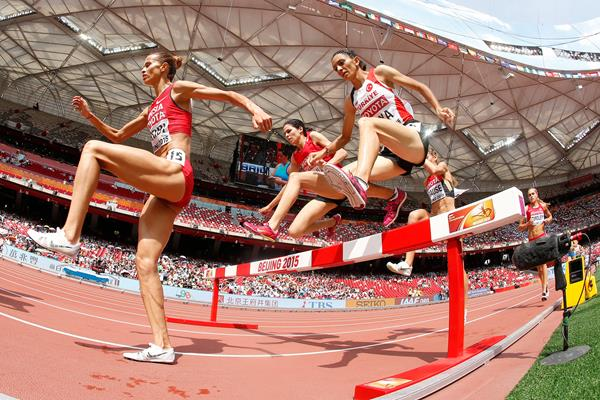 Habiba Ghribi in the 3000m steeplechase at the IAAF World Championships, Beijing 2015 (Getty Images)