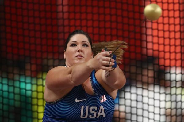 DeAnna Price, hammer throw champion at the IAAF World Athletics Championships Doha 2019 (Getty Images)
