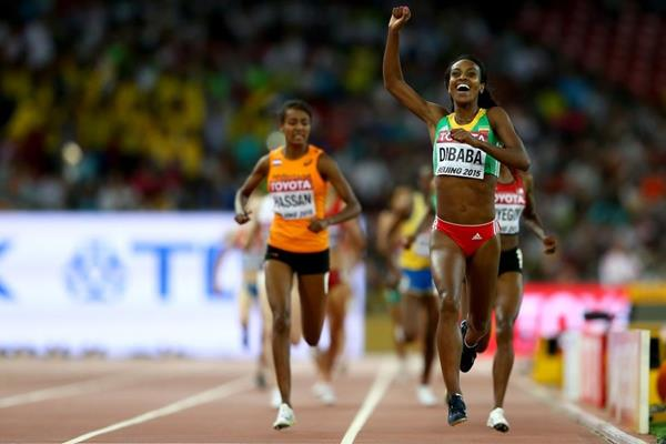 Genzebe Dibaba wins the 1500m at the IAAF World Championships, Beijing 2015 (Getty Images)