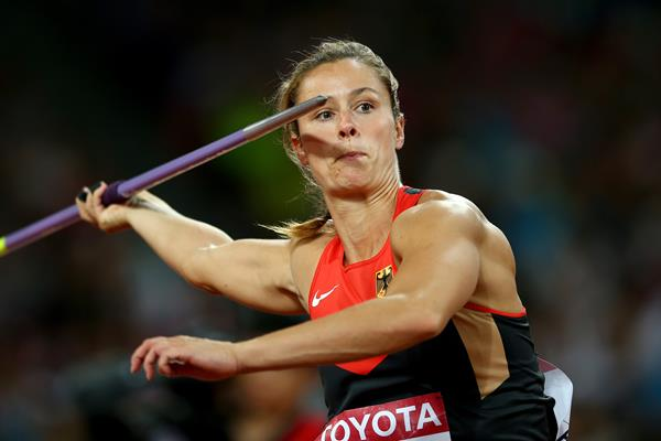 Katharina Molitor in the javelin final at the IAAF World Championships, Beijing 2015 (Getty Images)