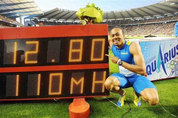 Aries Merritt and his World record numbers in Brussels (Jiro Mochizuki)