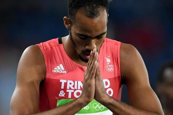 Machel Cedenio in the 400m heats at the Rio 2016 Olympic Games (Getty Images)