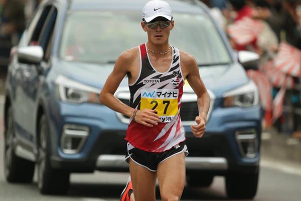 Yuma Hattori en route to his Fukuoka victory (Kazuaki Matsunaga/Agence Shot)