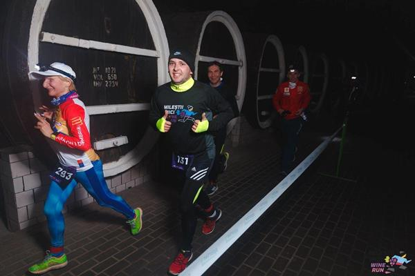Runners in the Milesti Wine Run in Moldova (Organisers)