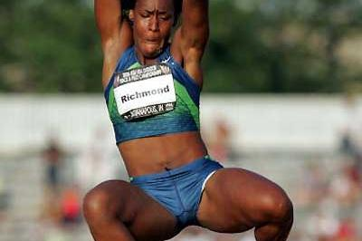 Rose Richmond, a 6.84m PB - USATF (Getty Images)